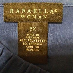 Rafaella Tops - Rafaella Woman Blue Sleeveless Blouse Size 2x